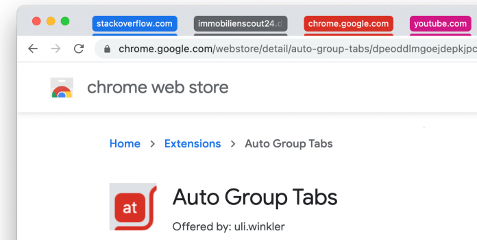 Added extension for automatic grouping of tabs in Chrome